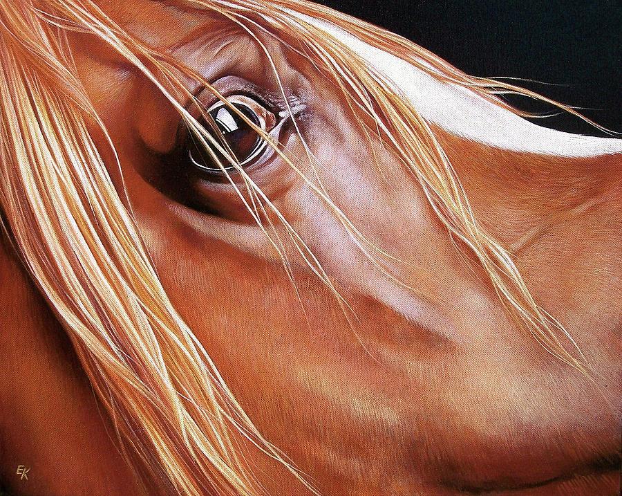 Horse Painting - Arabian by Elena Kolotusha