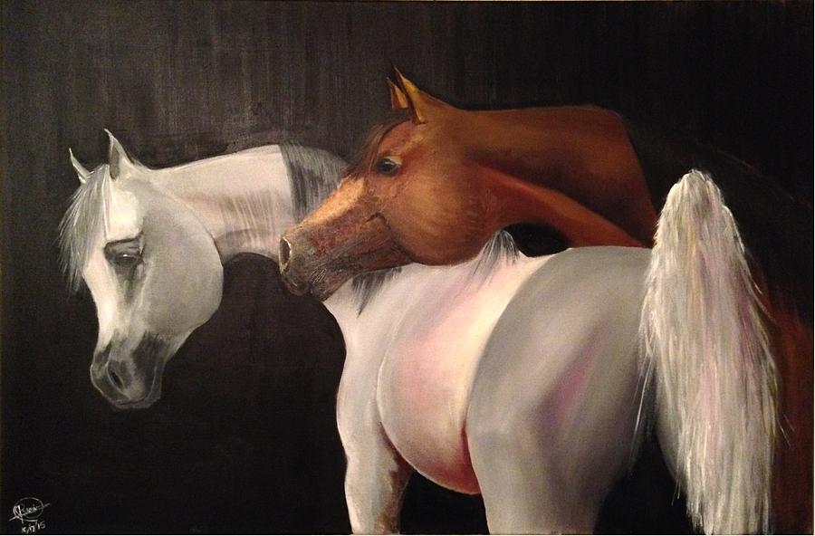 Arabian Horse Painting - Arabian Horses by Rami Besancon