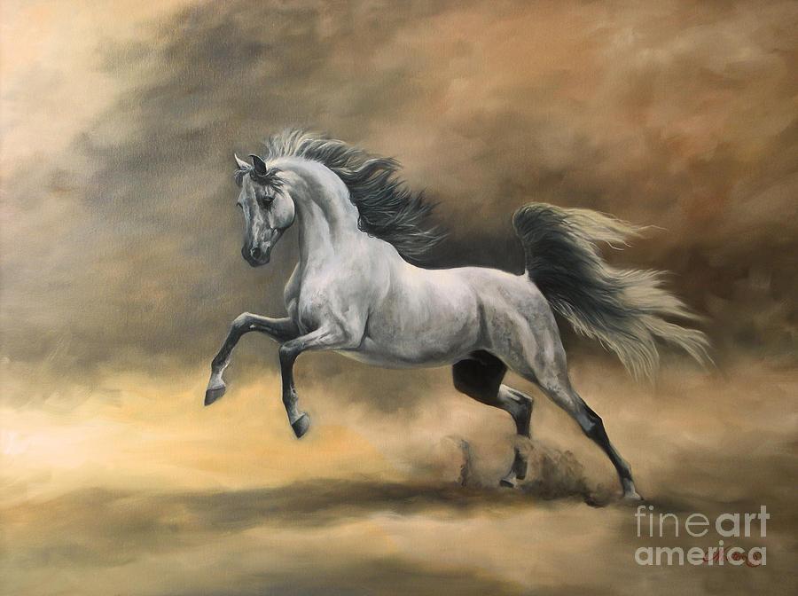 Arabian Painting by Jeanne Newton Schoborg