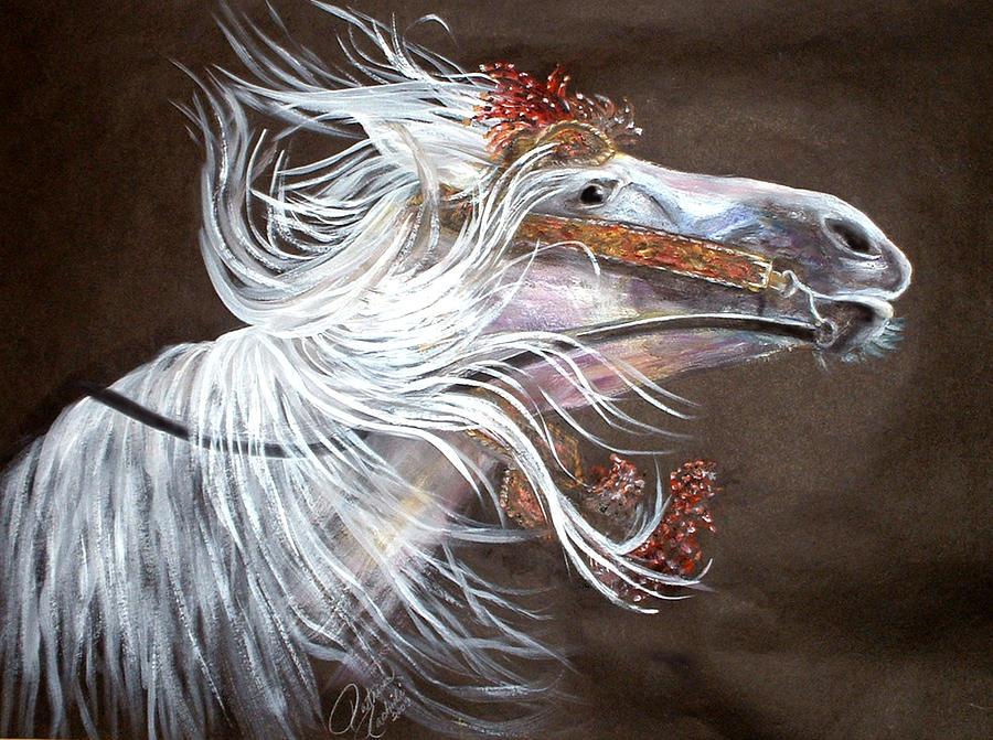 Horse Painting - Arabian Stallion by Patricia Rachidi