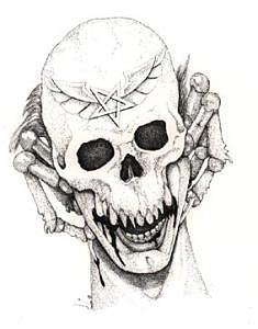 Evil Skull Painting - Arachniskull by Preston Shupp