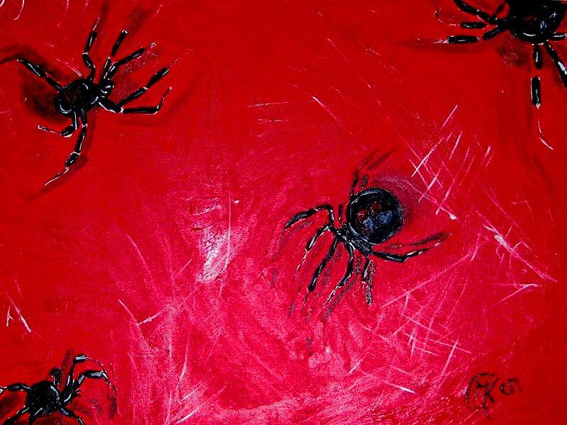 Spider Painting - Arachnofobia by Michaela Gilt
