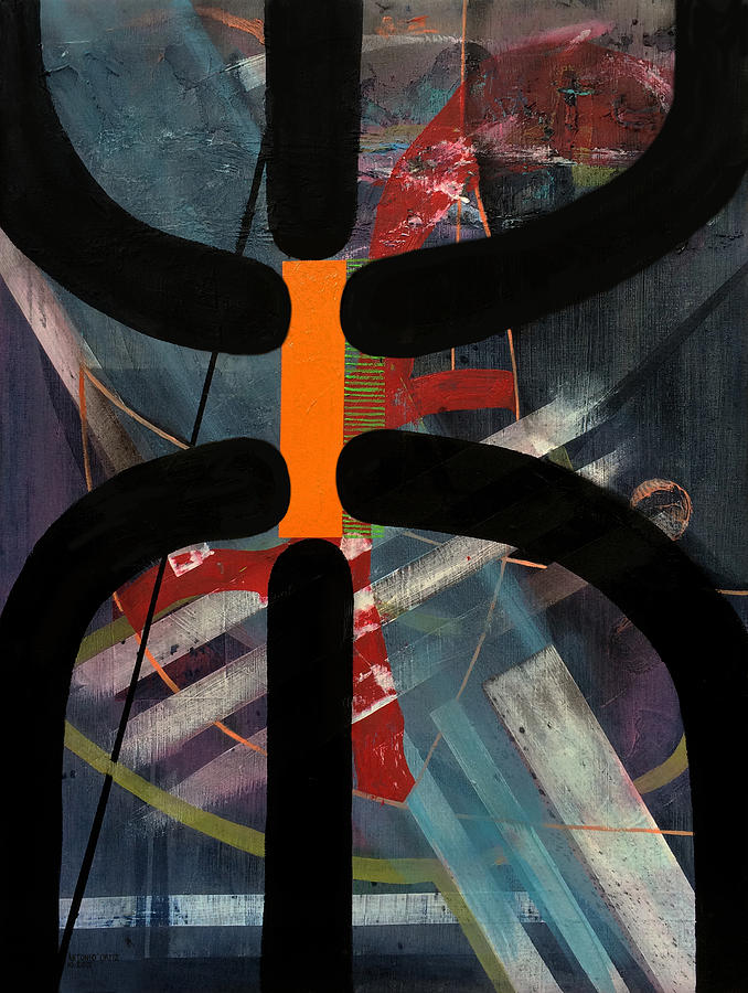 Abstract Expressionism Painting - Arachnophobia by Antonio Ortiz