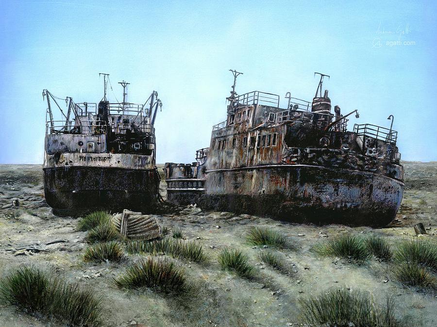 Aral Shipwrecks Digital Art