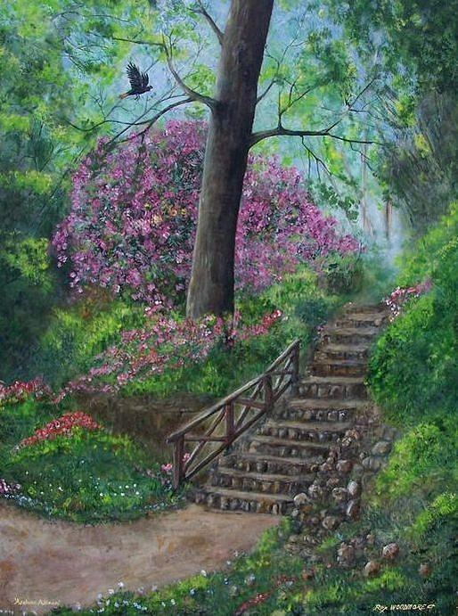 Original Painting - Araluen Abloom by Rex Woodmore