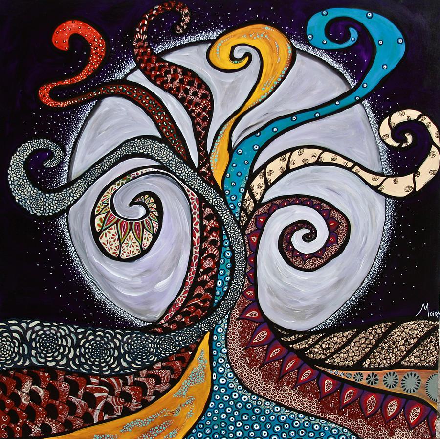 Arbol De La Vida Painting By Moira Gil
