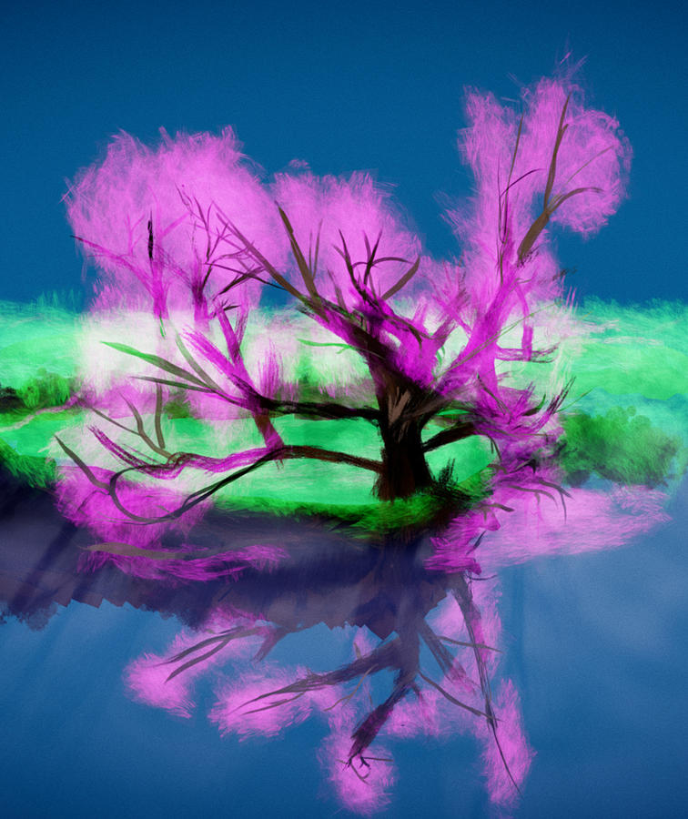 Lake Digital Art - Arbol Druida  by Kab