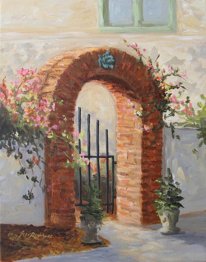 Garden Painting - Arbor Dreams by Jose Rodriguez
