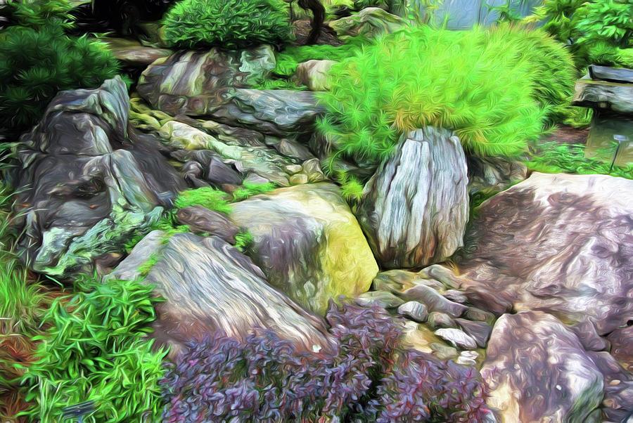 Arboretum Rock Garden by Ginger Wakem