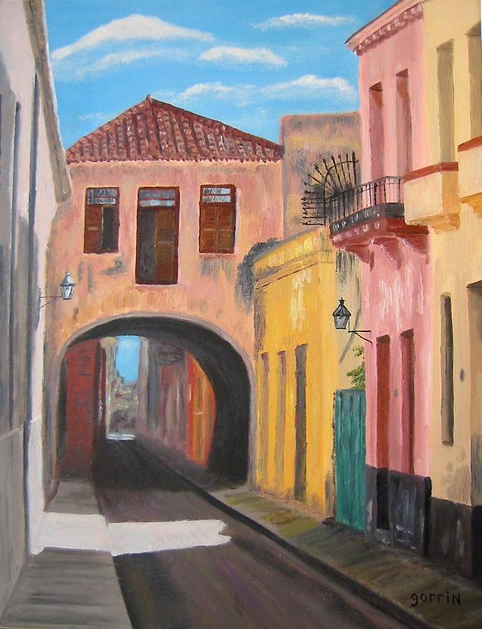 Cityscape Painting - Arc De Belen by Roger E Gorrin