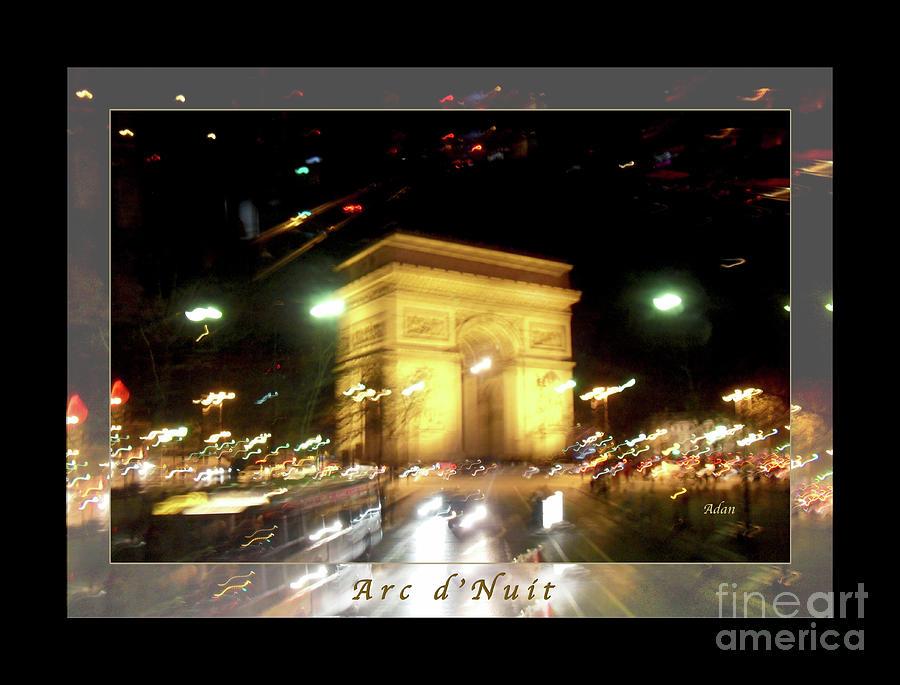 Paris Photograph - Arc de Triomphe by Bus Tour Greeting Card Poster v1 by Felipe Adan Lerma