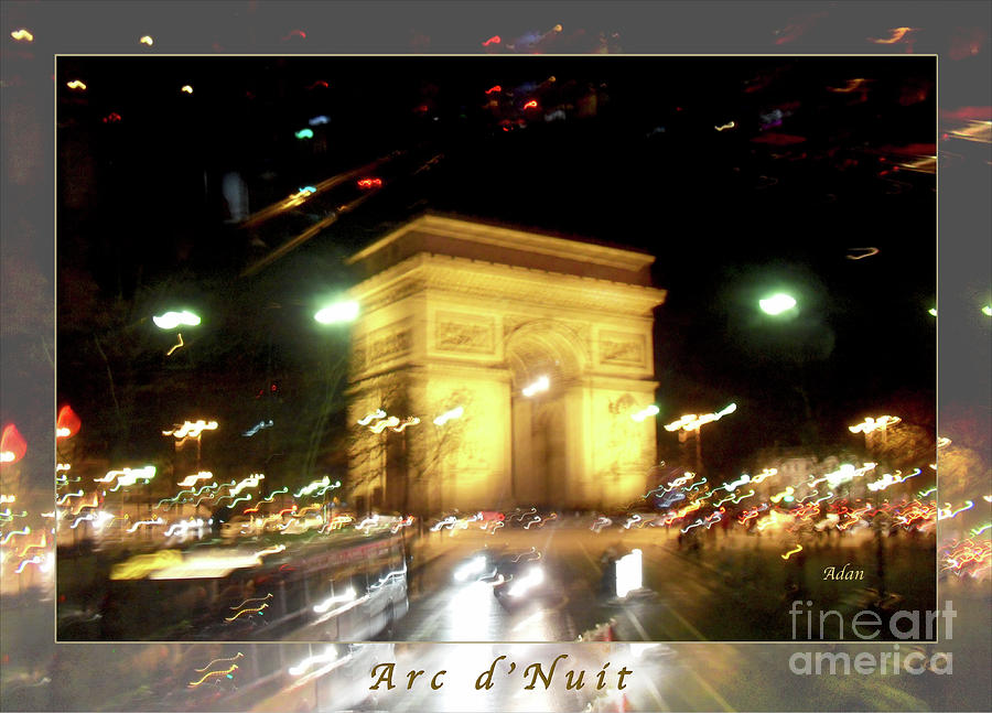Paris Photograph - Arc De Triomphe By Bus Tour Greeting Card Poster V2 by Felipe Adan Lerma