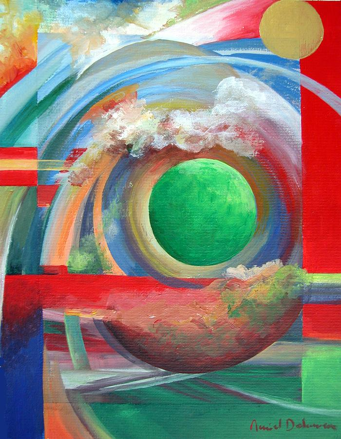 Abstract Painting - Arc by Muriel Dolemieux