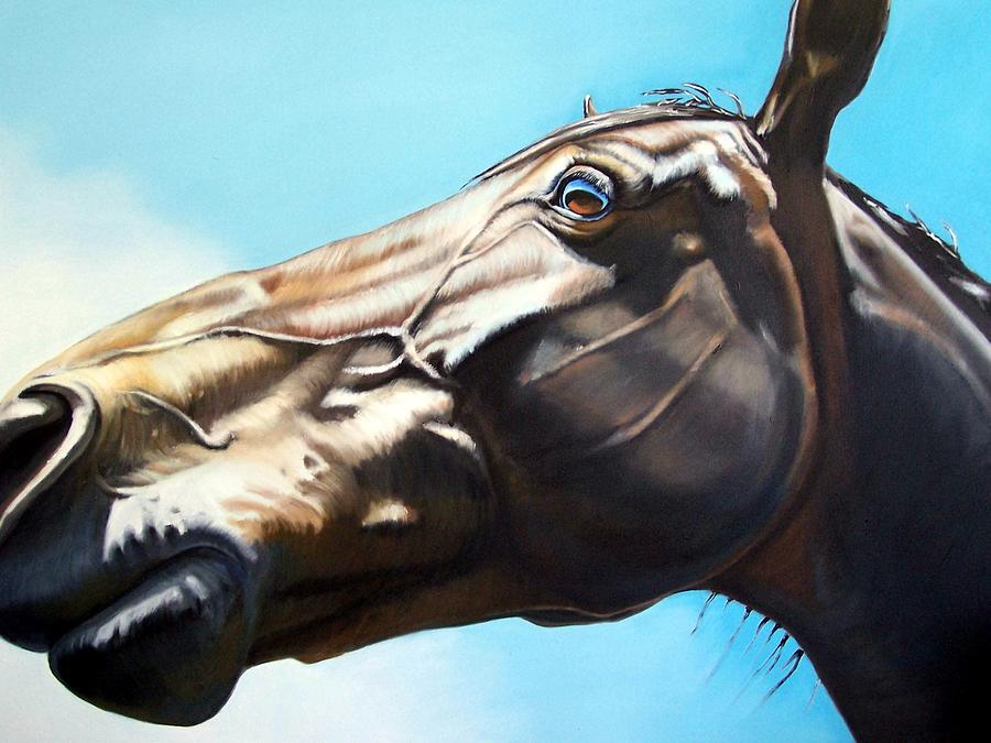 Horse Painting - Arc by Steve Messenger