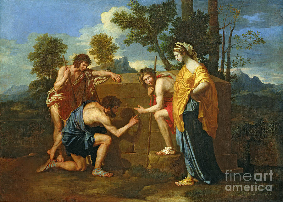 Arcadian Painting - Arcadian Shepherds by Nicolas Poussin