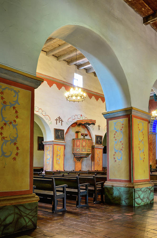 Landscape Photograph - Arch In San Juan Bautista Mission by Javier Flores