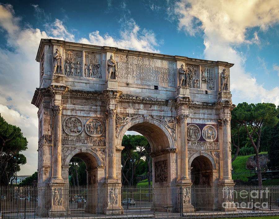 Constantine Photograph - Arch Of Constantine by Inge Johnsson