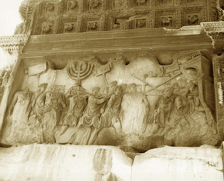 Holy Temple Photograph - Arch Of Titus by Photo Researchers, Inc.