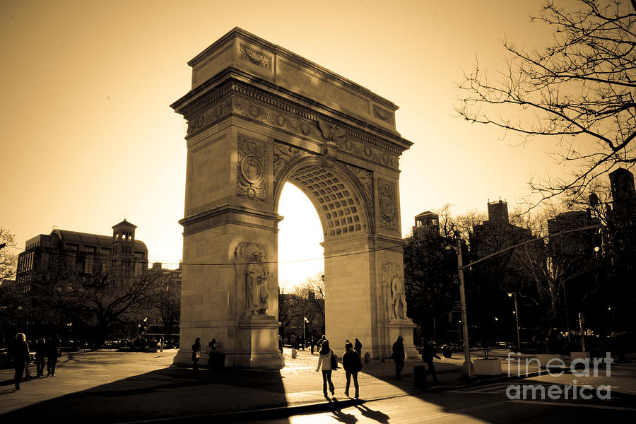 Washington Square Park Photograph - Arch Of Washington by Joshua Francia