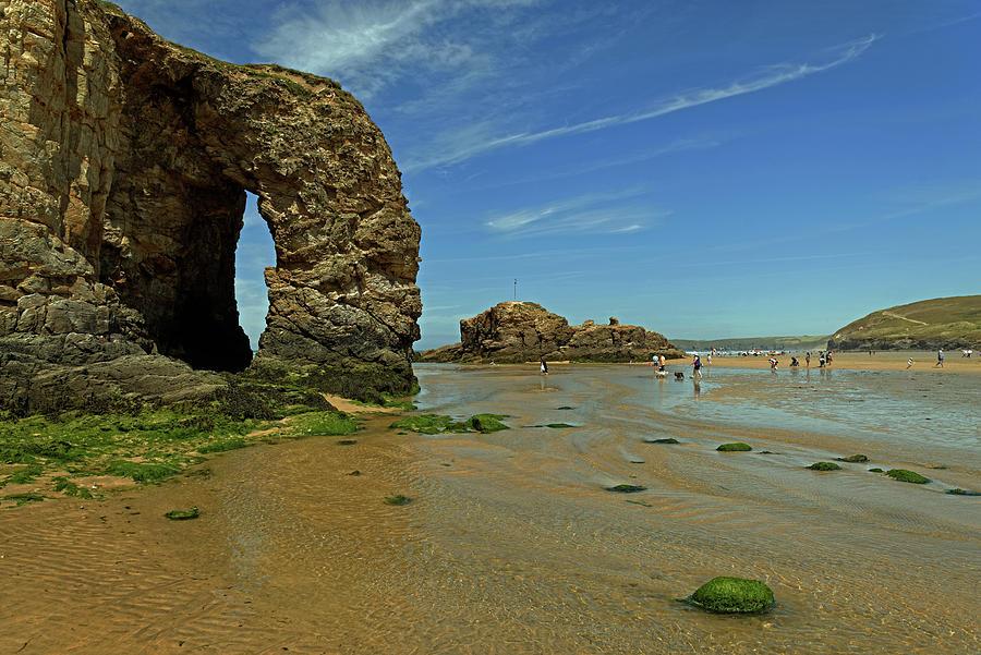 Arch Rock - Perranporth Beach Photograph