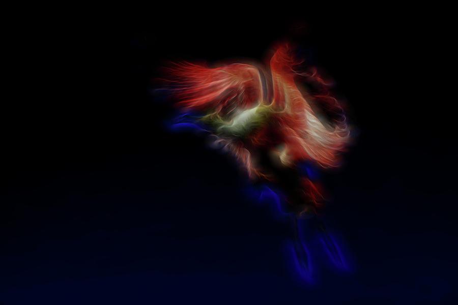 Abstract Digital Art - Archangel 2 by William Horden