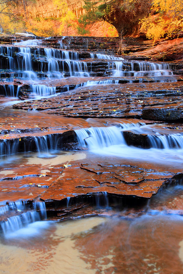 Zion Photograph - Archangel Falls In Zion by Pierre Leclerc Photography