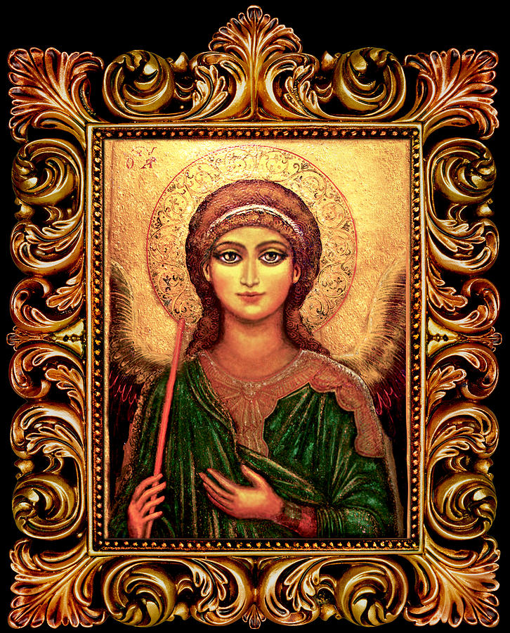 Christ Mixed Media - Archangel Gabriel by Ananda Vdovic