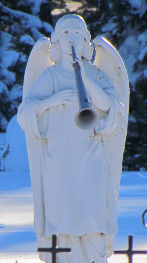 Holy Photograph - Archangel Gabriel by Delynn Addams