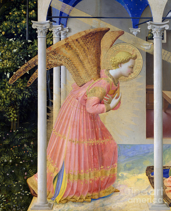 Fra Angelico Painting - Archangel Gabriel by Fra Angelico