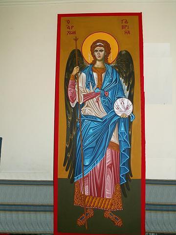 Archangel Gabriel Painting by George Lenis