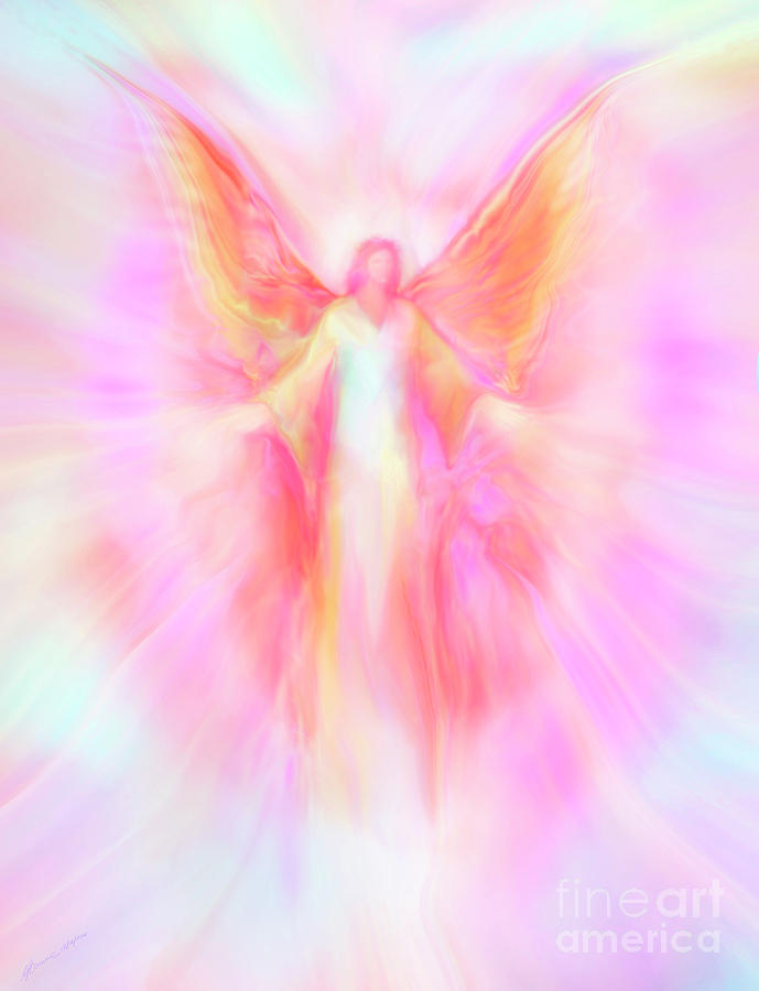 Archangel Metatron Reaching Out in Compassion by Glenyss Bourne