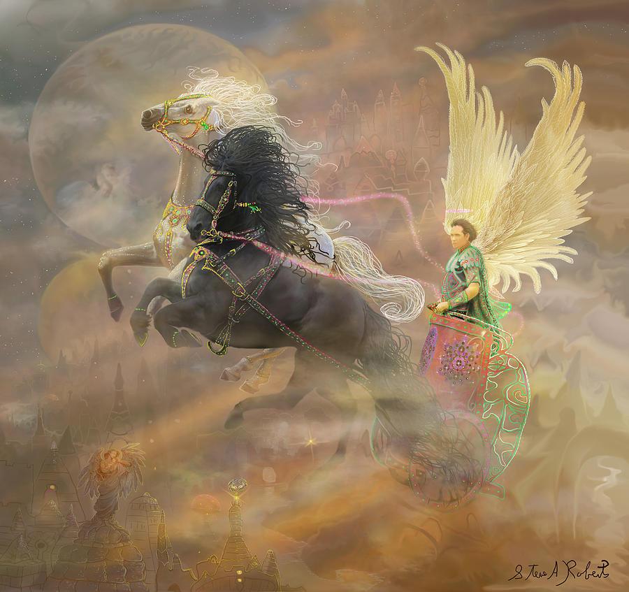 Angel Painting - Archangel Metatron by Steve Roberts