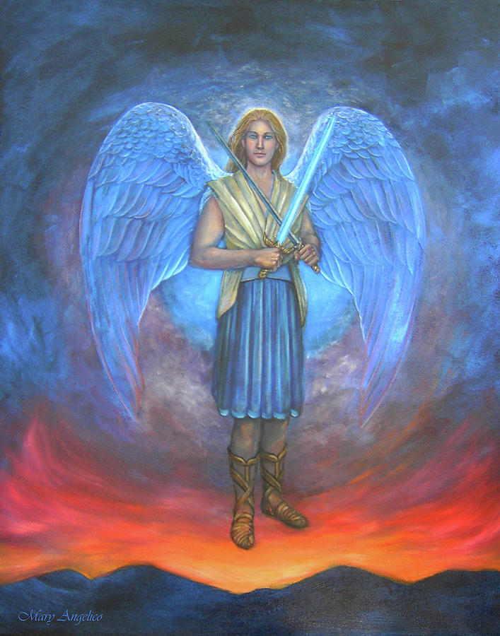 Archangel Michael Painting by Mary Angelico