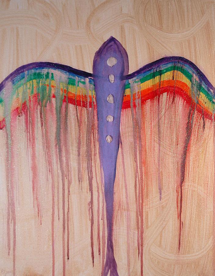 Angel Painting - Archangel Shamuel by Emerald GreenForest