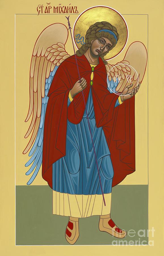 Divinity Painting - Archangel St Michael 193 by William Hart McNichols