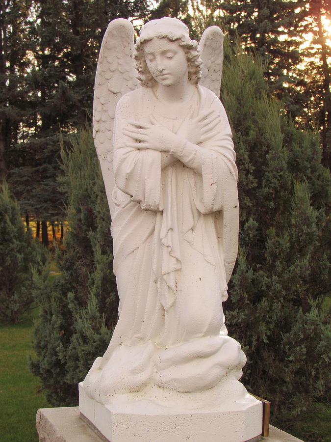 Archangel Photograph - Archangle Gabriel by Delynn Addams