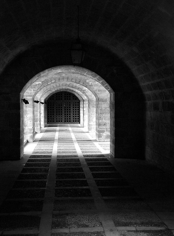 Landscape Photograph - Arched Hallway In Palma by Donna Corless