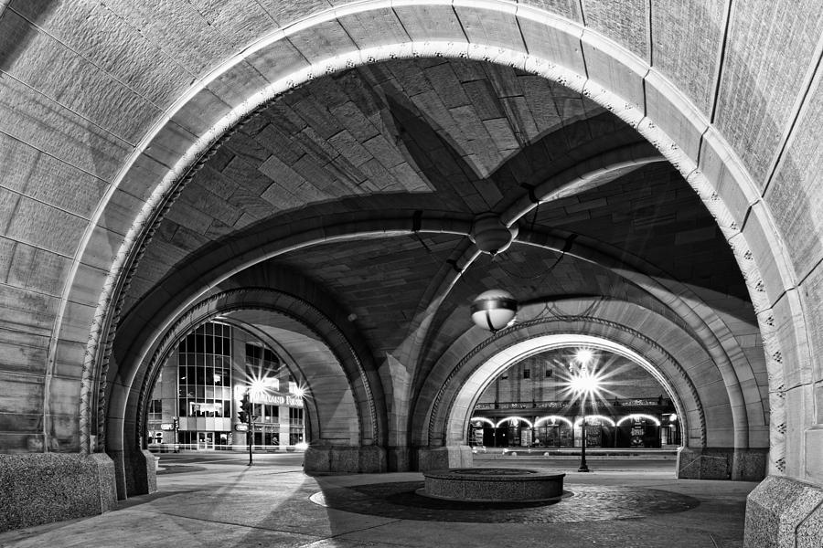 Monochrome Photograph - Arched In Black And White by CJ Schmit