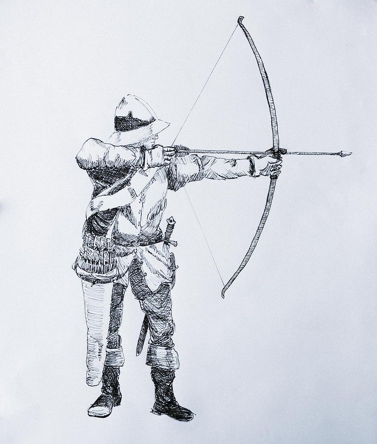 Лучник картинка карандашом