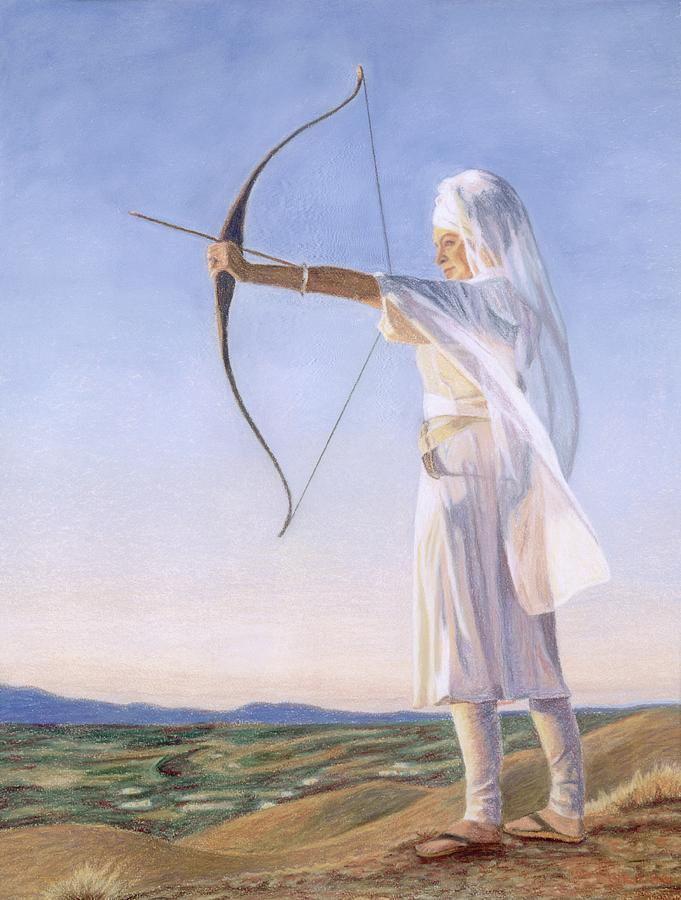 Archeress Painting By Gurukirn Khalsa