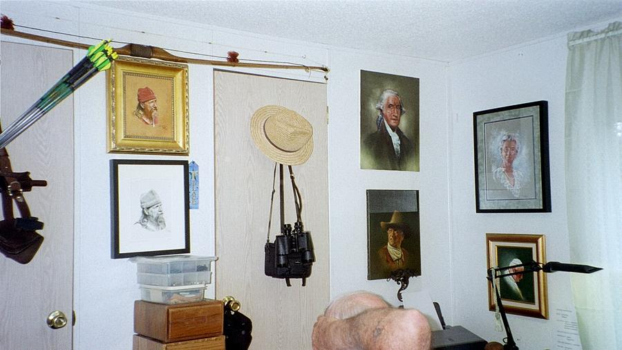 Studio Painting - Archery And Art And Camera And Historypart Of My Studio by Mahto Hogue
