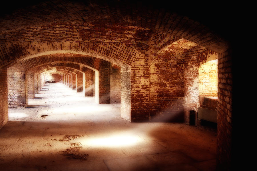Architecture Photograph - Arches And Beaming Light  by George Oze