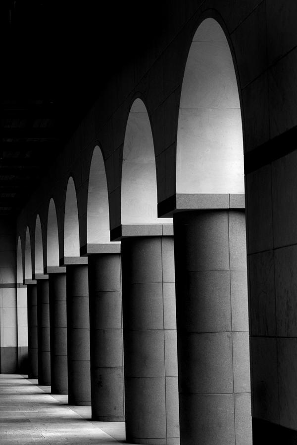 Austin Photograph - Arches And Columns 1 by John Gusky