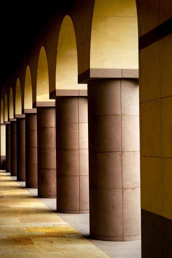 Gold Photograph - Arches And Columns 2 by John Gusky