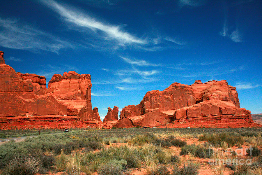 Arches National Park Painting - Arches National Park, Park Avenue by Corey Ford