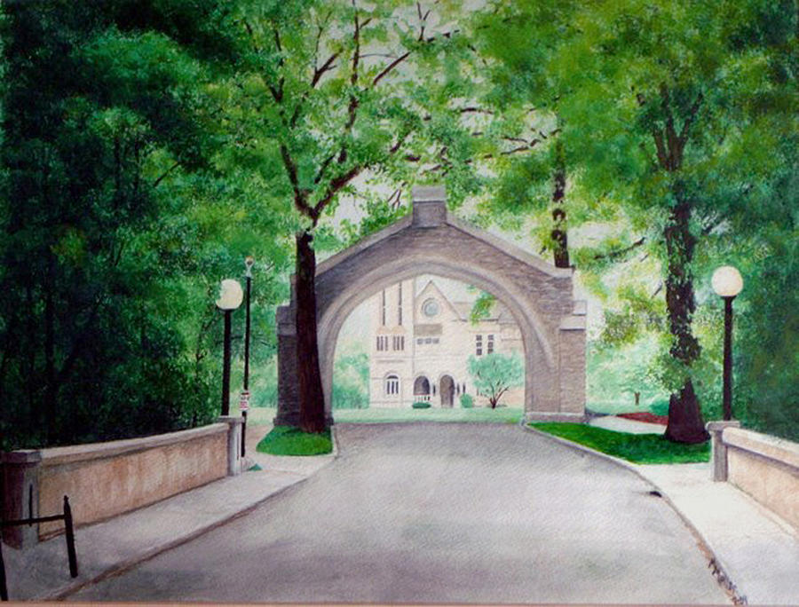 Landscape Painting - Arches Of Shadduck St Mary by Marcus Moller