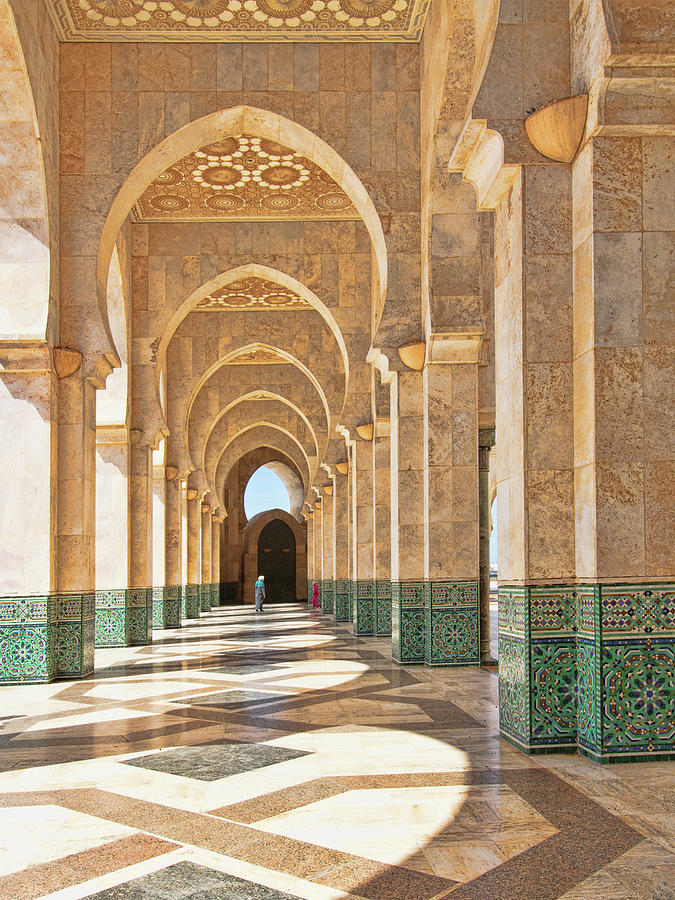 Arches of the Hassan II Mosque by Sandra Anderson