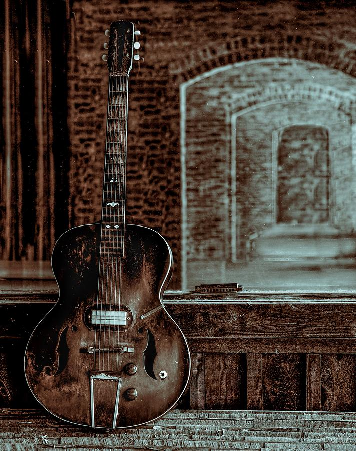 Guitar Photograph - Arches Of Time by EG Kight