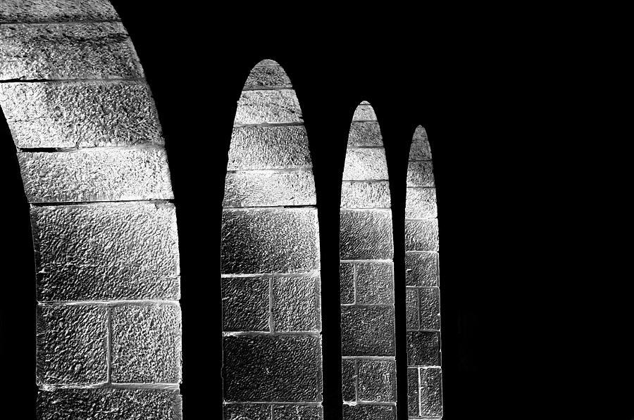 Cohen Photograph - Arches Per Israel - Black And White by Deb Cohen