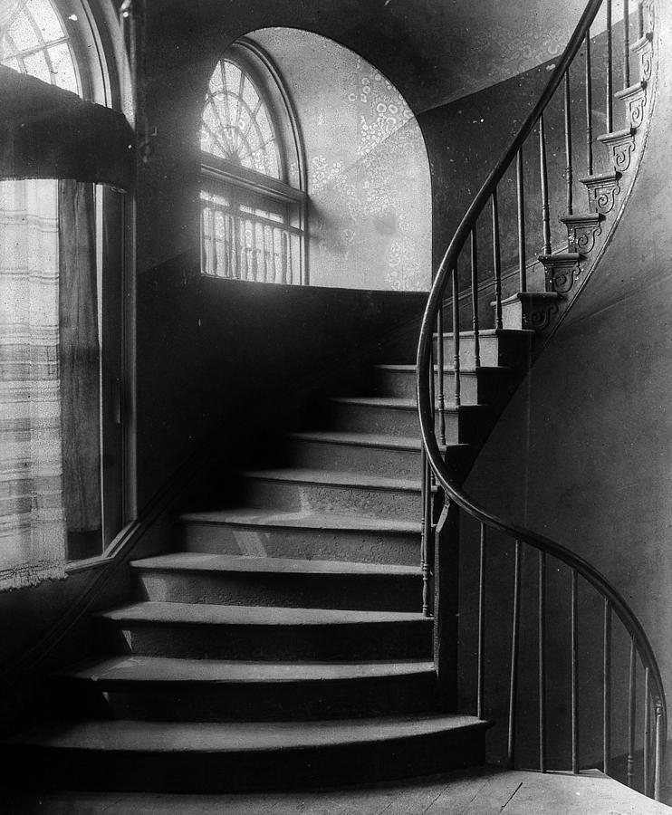 Stairwell Photograph - Arching Stairwell by Crescent City Collective
